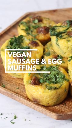 Tasty Vegetarian Recipes, Vegetarian Breakfast, Vegan Dinner Recipes, Vegan Breakfast Recipes, Veggie Recipes, Whole Food Recipes, Breakfast Finger Foods, Vegan Foods, Vegan Dishes