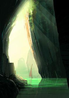 ArtStation - Undiscovered Cavern, Clement dartigues