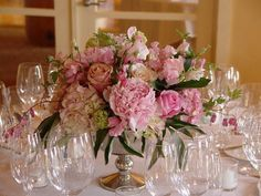 Change flowers to all white/ivory, quicksand rose, anemone accent
