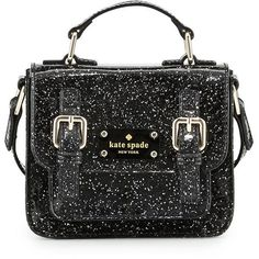 kate spade new york scout girls' metallic patent leather crossbody bag (2,200 MXN) ❤ liked on Polyvore featuring bags, handbags, shoulder bags, purses, bolsas, black, black cross body purse, black patent shoulder bag, black crossbody purse and shoulder strap bag