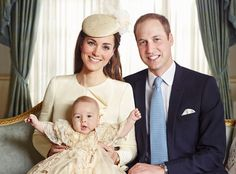 Prince George's christening portrait