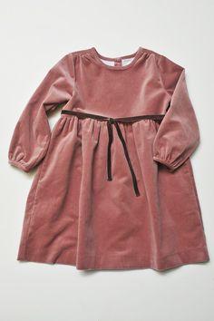 Holiday Classic Velvet Tie Dress in Rose Velveteen | Olive Juice #holidaydress