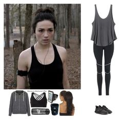 """Workout with Crystal"" by emma-directioner-r5er ❤ liked on Polyvore featuring Topshop, RVCA, NIKE and Live The Process"