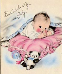 Best wishes to baby card