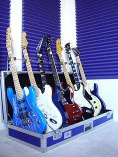 Galaxy Guitar Rack System with some Guitar Porn. Enjoy. galaxyguitar.com