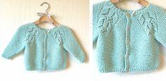 Liliana Knitted Lace Baby Cardigan [FREE Knitting Pattern]