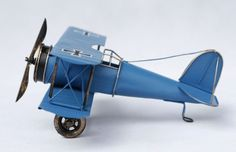 Handmade Antique Tin Model Airplane-Albatross D.II Fighter