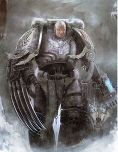 Space Wolf Wolf Guard Battle Leader w/ Plasma-Pistol/Wolf-Talon.