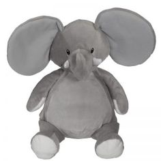 Elford Elephant is perfect for any girl or boy room. His flat pile belly will make any design easy to embroider. Dimensions: 16 inches Self contained stuffing p Embroidery Blanks, Machine Embroidery, Embroidery Supplies, Boutique, Plushies, Smurfs, Personalized Gifts, Custom Design, Elephant