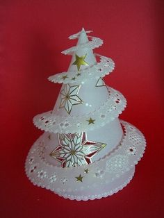 Christmas Design, Christmas Crafts, Xmas, Christmas Ornaments, Vellum Crafts, Paper Crafts, 3d Paper Projects, Craft Projects, Gold Jewelry For Sale
