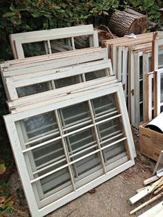 Creative Ways to Reuse Old Windows from Diane on S