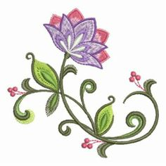 Jacobean Embroidery Patterns | Ace Points Embroidery Design: Decorative Jacobean 3.81 inches H x 3.84 ...