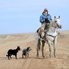 A hardworking cowgirl