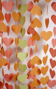 Paper Garland (add #personalized #wedding #printables www.customweddingprintables.com)