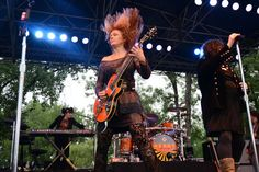 Ann and Nancy Wilson of Heart perform July 8, 2012 at The Hudson Gardens And Event Center