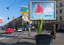 """Mit """"Flower Power"""" in den Fruehling - Bellaflora mit Sonderinstallation am Rolling Board Flower Power, Times Square, Broadway Shows, Travel, Viajes, Traveling, Tourism, Outdoor Travel"""
