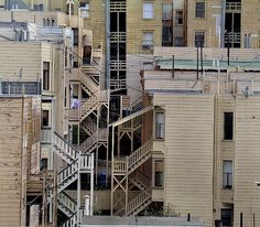 Back stairs, Russian Hill, San Francisco by Dizzy Atmosphere, via Flickr