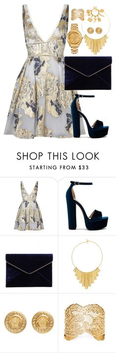 """""""Untitled #603"""" by victoriaam99 ❤ liked on Polyvore featuring Notte by Marchesa, Steve Madden, Rebecca Minkoff, BERRICLE, Versace, Aurélie Bidermann and Chanel"""