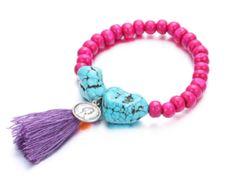 eManco Fashion 18 Color Bohemia Tassel Charms Bracelets & Bangles for Women Crystal Wood-bead Turquoise Adjustable Jewelry(China (Mainland)) Fast Fashion, Trendy Fashion, Fashion Fashion, Pretty Outfits, Beautiful Outfits, Fashion Accessories, Fashion Jewelry, Cute Jewelry, Jewelry Shop