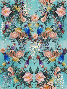 Rouxinol l Estampa Digital on Behance
