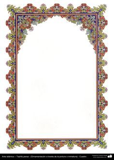 Islamic Art - Tazhib (ornamentation) in carde - 52 Borders And Frames, Borders For Paper, Islamic Art Pattern, Pattern Art, Blue Ribbon Image, Motifs Islamiques, Molduras Vintage, Ornament Template, Page Borders Design