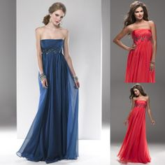 Navy Blue Casual Bridesmaid Dresses   blue empire chiffon casual beach style elegant dresses for girls dress ...