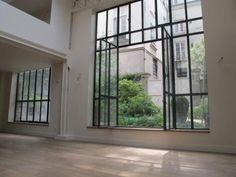 Metal framed folding windows
