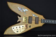 Vintage 1981 Custom Ken Smith STANLEY CLARKE Flying V Bass Guitar MUST SEE!!