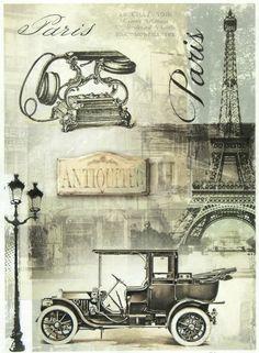 Ricepaper/Decoupage paper,Scrapbooking Sheets /Craft Paper Vintage Black Paris | eBay: