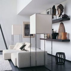 Contemporary interior with ethnic accessories