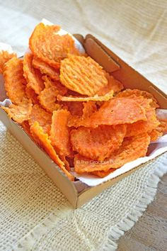 Clean Eating Recipes   Clean Eating Twice Baked Sweet Potato Chips   Sweet Potato Chips Recipe ~ https://www.thegraciouspantry.com