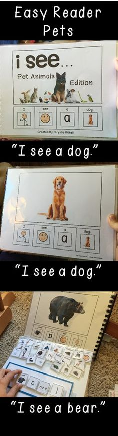 Easy Reader- I can see pets. Great way to introduce books to non-readers, and allow them to enjoy reaching success.