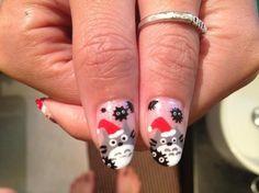 Totoro nails art