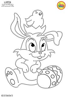 Easter Tracing and Coloring Pages for Kids - Free Preschool Printables and Worksheets, Fine Motor Skills Practice - Easter bunny, eggs, chicks and more on BonTon TV - Coloring books Easter Activities For Kids, Preschool Crafts, Easter Crafts, Toddler Activities, Free Preschool, Preschool Printables, Easter Coloring Pages, Cool Coloring Pages, Coloring Books