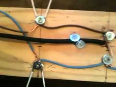 Home made hd aerial from coat hangers