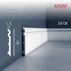 Sockelleiste Fußleiste von Orac Decor SX138 AXXENT Profilleiste Wand Boden Leiste mit Kabelschutz Funktion | 2 Meter 001