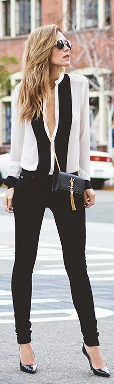 Basic black and white outfit . Shop on @Italist.com