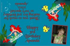 Little Mermaid Party Favors Candy Bag Labels