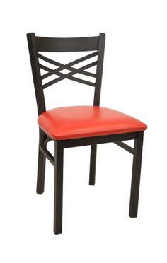 A1 - X Back Metal Chair w/ Vinyl Seat, $26.50