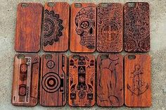 New Genuine Wooden Real Wood Phone Case Cover For iPhone 5s / 6 / 6plus
