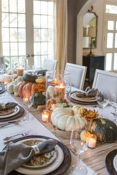 home decor thanksgiving table home decor thanksgiving table More from my site Thanksgiving Tablescape with Christmas Tree Shops andThat! 25 Easy & Elegant DIY Thanksgiving Decorations To Copy This Year Thanksgiving Table Settings, Thanksgiving Parties, Thanksgiving Centerpieces, Holiday Tables, Fall Table Settings, Hosting Thanksgiving, Christmas Tables, Thanksgiving Crafts, Outdoor Thanksgiving