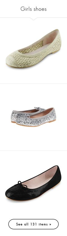 """""""Girls shoes"""" by larinhacarter on Polyvore featuring shoes, flats, woven ballet flats, ballerina flat shoes, ballerina shoes, ivory ballet flats, ivory ballet shoes, bloch flats, black ballerina shoes e ballet shoes"""