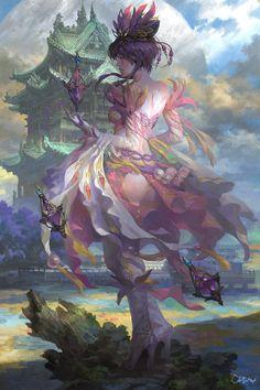 fairy(仙女), Wei Feng on ArtStation at https://www.artstation.com/artwork/0l4qK