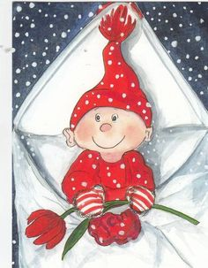 Postcrossing postcard from Finland Christmas Scenes, Christmas Gnome, Christmas Art, Vintage Christmas, Christmas Ornaments, Christmas Graphics, Christmas Clipart, Christmas Printables, Christmas Drawing