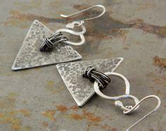Triangle Fine Silver Earrings For Women
