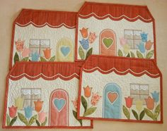 Quilted Placemats - Houses