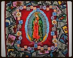 Our Lady of Guadalupe Quilt // Wall Quilt // by CherryPicks, $30.00