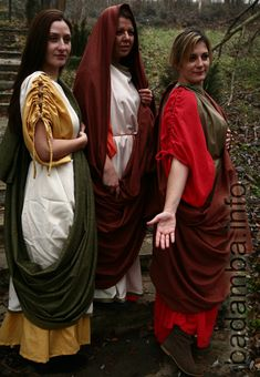 Roman Costumes. I think the wide tube of fabric would be extremely handy!