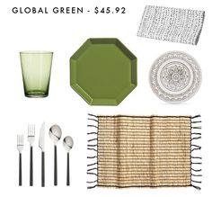 Global Green Emily Henderson Design Table Setting Combos