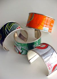 Recycled Soda Can Cuff Bracelets